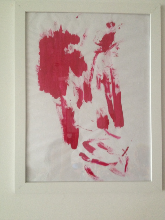 Leila's pink painting